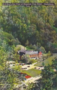 Tennessee Gatlinburg Birds Eye View Of Mountain View Hotel