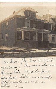 H16/ Detroit Michigan RPPC Postcard 1908 Home Residence 243 Wreford Ave