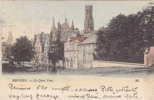 BRUGES, Le Quai Vert, West Flanders, Belgium, PU-1902
