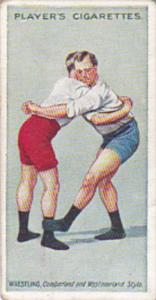 Cigarette Card Player and Sons Wrestling & Ju-Jitsu 1913 No 17 The Outside St...