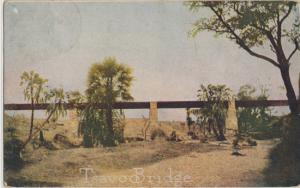 TSAVO, KENYA  RARE & HISTORIC VIEW OF TSAVO BRIDGE built by Uganda Railway 1900s