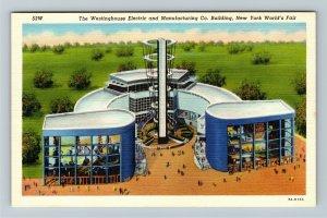 1939 New York World's Fair - Westinghouse Electric Building - Linen Postcard