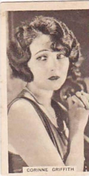 Abdulla Vintage Cigarette Card Cinema Stars Brown Back No 14 Corinne Griffith...