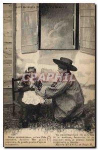 Old Postcard Folklore Our Region Auvergne Puy de Dome