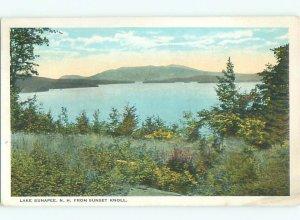 W-border LAKE SCENE Lake Sunapee - New London & Newbury & Croydon NH AE4750