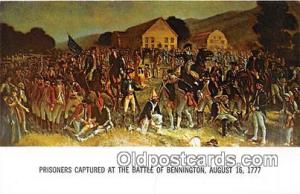 Prisoners Captured Battle of Bennington, August 16, 1777 Patriotic Postcard P...