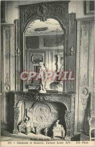 Old Postcard Musee des Arts Decoratifs Fireplace and Woodwork Louis XIV period