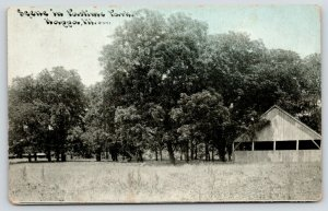 Kappa Illinois~Pastime Park Open Air Pavilion in Trees~c1910 CU Williams PC