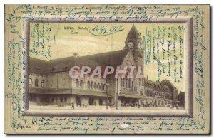 Old Postcard Metz Train Station