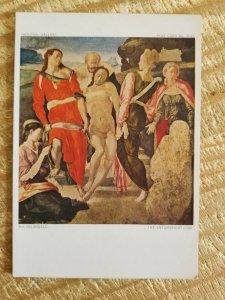 "Unused Postcard Art ""The Entombment"" Michelangelo*P10"