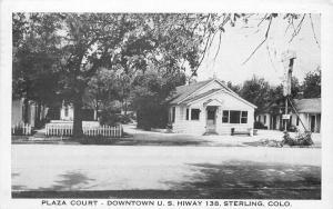 1952 Plaza Court roadside Highway 138 Sterling Colorado Postcard Nationwide 5670