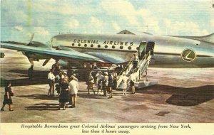 Advertising Airline Colonial Sky Cruisers Canada Baumann Postcard20-11841
