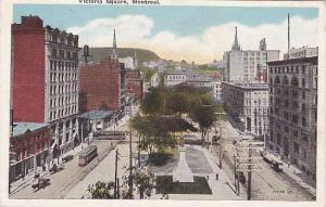 Trolley, Victoria Square, Montreal, Quebec, Canada, 1900-1910s