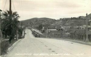 Overlooking Old Mexico Nogales Arizona 1940s RPPC Photo Postcard 3699