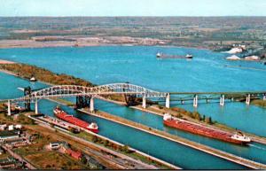 Michigan Sault Ste Marie The International Bridge and Soo Locks