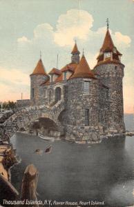 Thousand Islands New York~Heart Island Power House~Stone Bridge~Moat~1909 PC