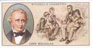 Mitchell Vintage Cigarette Card Famous Scots No 40 Lord Macaulay 1800-1859