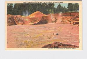 VINTAGE POSTCARD NATIONAL STATE PARK YELLOWSTONE FOUNTAIN PAINT POT #5