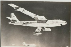 USAF Bomber-fighter jet escort rppc real photo Postcard US AIR FORCE airplane