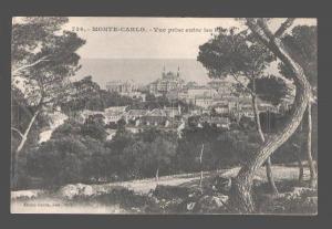 083196 MONACO Monte-Carlo Vue prise entre les Pims Vintage PC