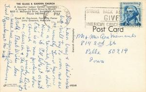 Scottsdale Arizona~The Glass and Garden Church~Multiple Views~1960s Postcard
