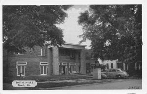 Ozark Alabama~Hotel Mills~House Next Door~1940s Car~B&W Postcard