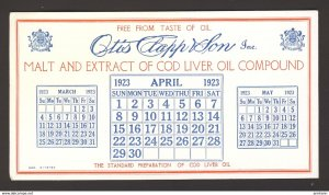 Otis Clapp & Son Inc. BOSTON Malt & Extract of Cod Liver Oil compound BLOTTER