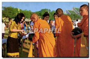 Postcard Modern New year's festival in Royal Snam Luang ground to Give alms f...