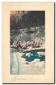 Old Postcard Heureusse Year