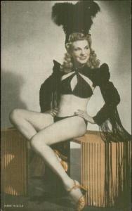 Semi-Nude Sexy Showgirl Pin-Up Exhibit Mutoscope Card - Show Costume