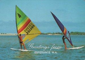 Australia Postcard -Sailboards,Greetings From Esperance,Western Australia RR9271