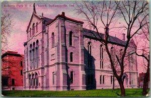 Indianapolis, Indiana Postcard Roberts Park M.E. Church / Building View c1910s