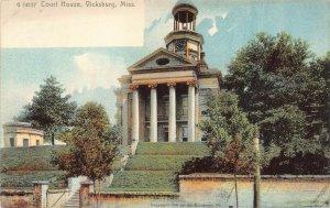 LP12 Vicksburg Court House  Mississippi Postcard