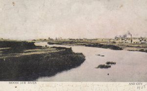 MOOSE JAW RIVER, Saskatchewan, Canada, PU-1908; City