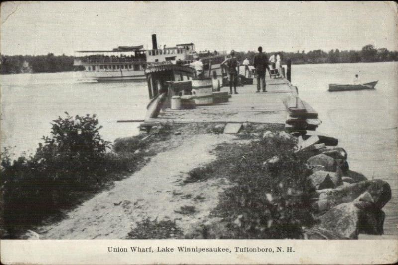 Tuftonboro NH Union Wharf Lake Winnipesaukee c1910 Postcard