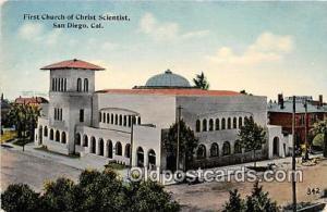 Churches Vintage Postcard San Diego, CA, USA unused