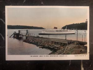 Mint Canada RPPC Postcard Kahloke Ferry About To Dock Nanaimo BC