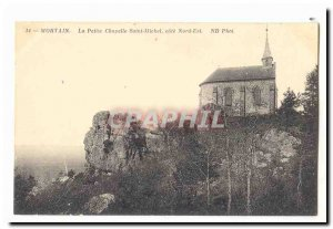 Mortain Old Postcard The small chapel Saint Michael North East coast