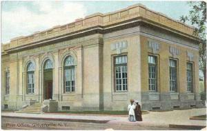 Post Office in Gloversville, NY, New York,State, Divided Back