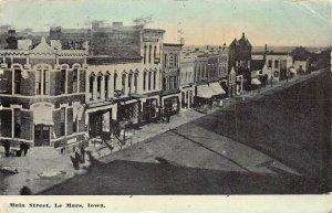 LPS54 LE MARS Iowa Main Street Aerial Town View Postcard