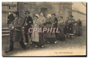 Old Postcard Folklore Auvergne Picturesque a wedding Auverfnate