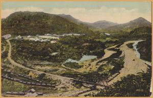 Panama Canal Zone-View looking South from Contractor Hill in 1885, French Era