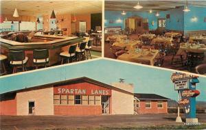 1950s Spartan Lanes Bowling Sparta Wisconsin Interior Entrance 7291