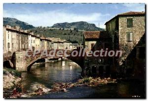 Postcard Old Quillan Old Bridge on the Aude