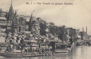 BENARES , India , 00-10s ; The Temple on ganges