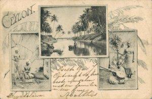 Ceylon Colombo 3 Picture Postcard 03.93
