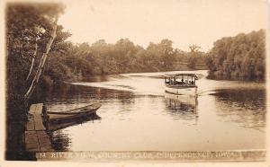 Independence Iowa~Small Tour Boat Princess Rowboat on Wapsipinicon RPPC c1919