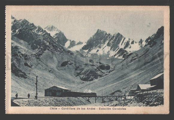 108678 CHILE Cordillera Andes Station Caracoles Vintage PC