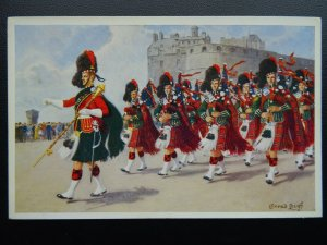 Scotland BLACK WATCH ROYAL HIGHLANDER Regimental Pipe Band c1960's Postcard