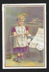 VICTORIAN TRADE CARD Whitmore's Stationers Girl